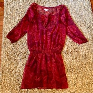 Aerie Red Paisley Dress